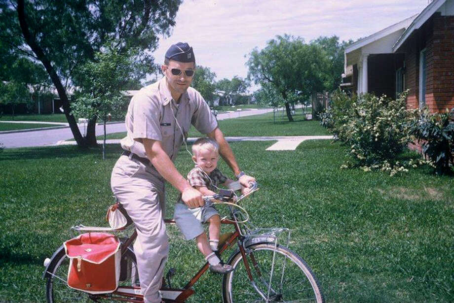 As far back as the 1960s, a uniformed Ron Paul, then an Air Force doctor, started son Rand on a political ride that eventually would lead him to run for president. Photo: HANDOUT, STR / THE WASHINGTON POST