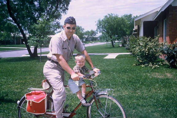 As far back as the 1960s, a uniformed Ron Paul, then an Air Force doctor, started son Rand on a political ride that eventually would lead him to run for president.