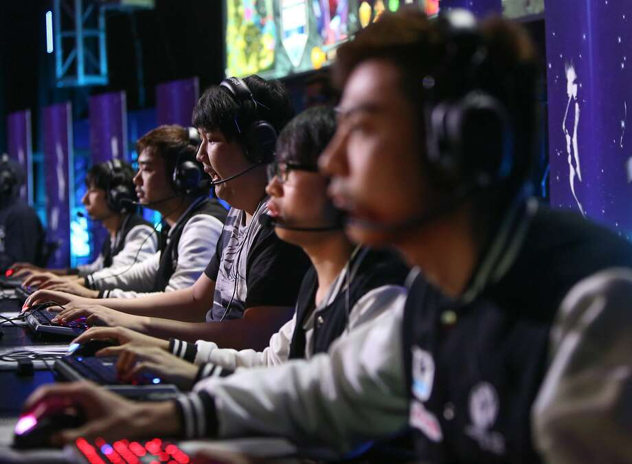 Team Invictus competes during the Dota 2 (Defense of the Ancients) video game tournament to begin at the Warfield Theater in San Francisco, Calif., on Sunday, May 10, 2015. Photo: Amy Osborne, The Chronicle