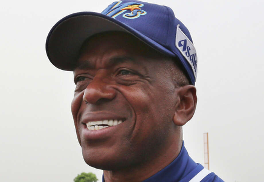In this Saturday, May 9, 2015 photo, former Major League Baseball player and manager of Ishikawa Million Stars Julio Franco smiles during an interview with the Associated Press at a stadium in Konosu, north of Tokyo.  When Franco signed a contract with the Million Stars, Franco saw himself more as a manager than player but that hasn't been the case so far. Due to an injury to a key player, Franco finds himself playing more than he expected.(AP Photo/Koji Sasahara) Photo: Koji Sasahara / Associated Press / AP