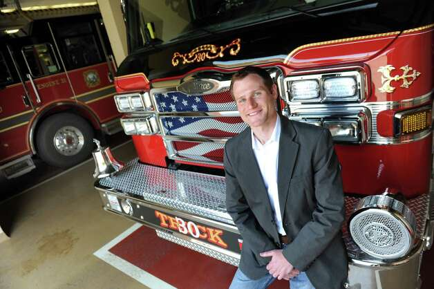 Jim Foster, who is running for Bethlehem Town Supervisor, on Thursday, May 7, 2015, at the Elsmere Fire District firehouse in Delmar, N.Y. Foster is a volunteer firefighter. (Cindy Schultz / Times Union) Photo: Cindy Schultz / 00031753A