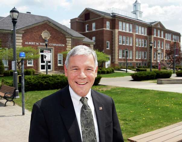 Retiring provost John Denio on the Albany College of Pharmacy campus Tuesday May 5, 2015 in Albany, NY.  (John Carl D'Annibale / Times Union) Photo: John Carl D'Annibale / 00031711A