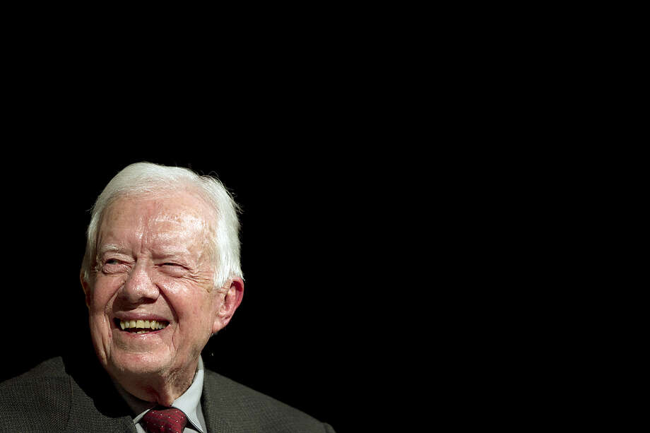 FILE - MAY 10, 2015: It was reported that former President Jimmy Carter cut short a trip to Guyana and was returning to Atlanta after falling ill May 10, 2015. AUSTIN, TX - APRIL 8:  Former President Jimmy Carter sits down for a conversation with Mark Updegrove, Director of the LBJ Presidential Library, on the first day of the Civil Rights Summit at the LBJ Presidential Library April 8, 2014 in Austin, Texas. The summit is marking the 50th anniversary of the passing of the Civil Rights Act legislation, with U.S. President Barack Obama making the keynote speech on April 10.  (Photo by Ralph Barrera-Pool/Getty Images) Photo: Pool / 2014 Getty Images