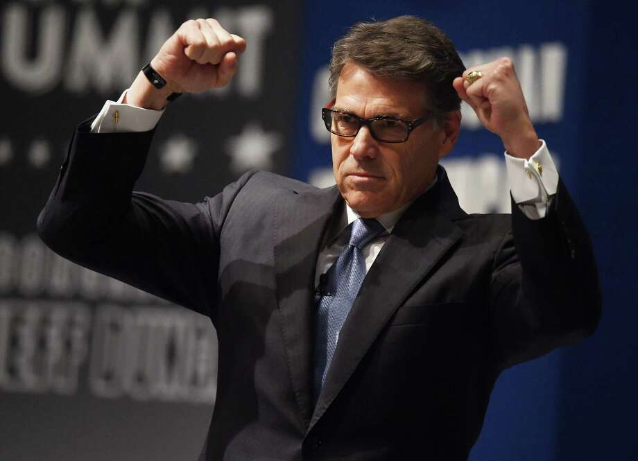 """In South Carolina, Rick Perry called President Obama's foreign policy """"naive ideological ignorance."""" Photo: Rainier Ehrhardt, FRE / FR155191 AP"""