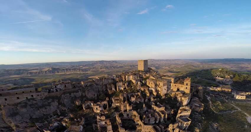 DRONE PHOTOS CAPTURE HAUNTING GHOST TOWNS AROUND THE WORLD Be On My Mind captured video of Craco, an Italian ghost town abandoned in the 1960s after a series of natural disasters. (Video:Be On My Mind)