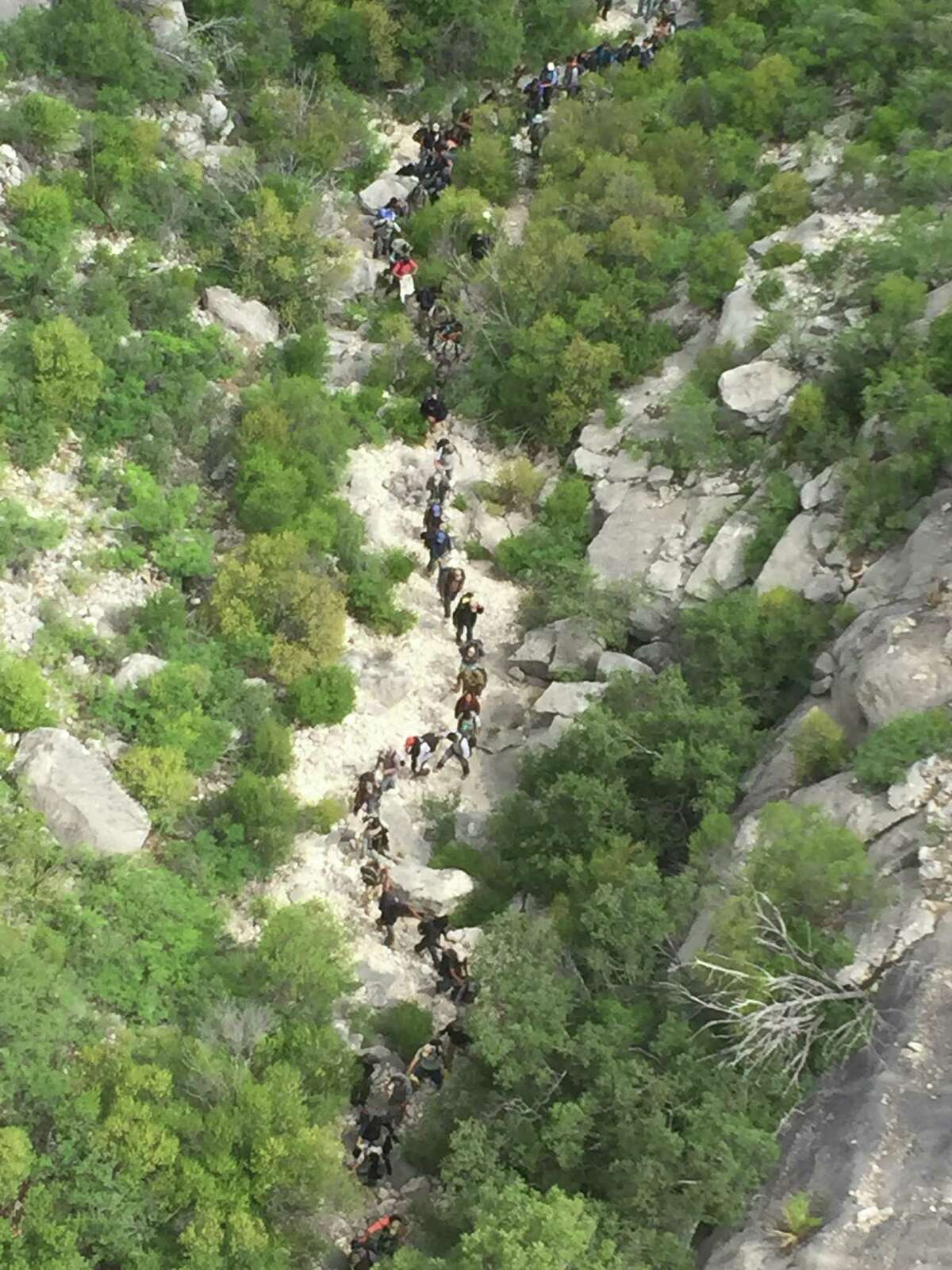 U.S. Border Patrol agents arrested 73 immigrants last week for allegedly illegally crossing into the United States near Del Rio. Border Patrol agents assigned to the Comstock station found footprints belonging to a large group Thursday morning, following the trail for about 30 minutes before locating the group near Comstock, according to a U.S. Department of Homeland Security news release.