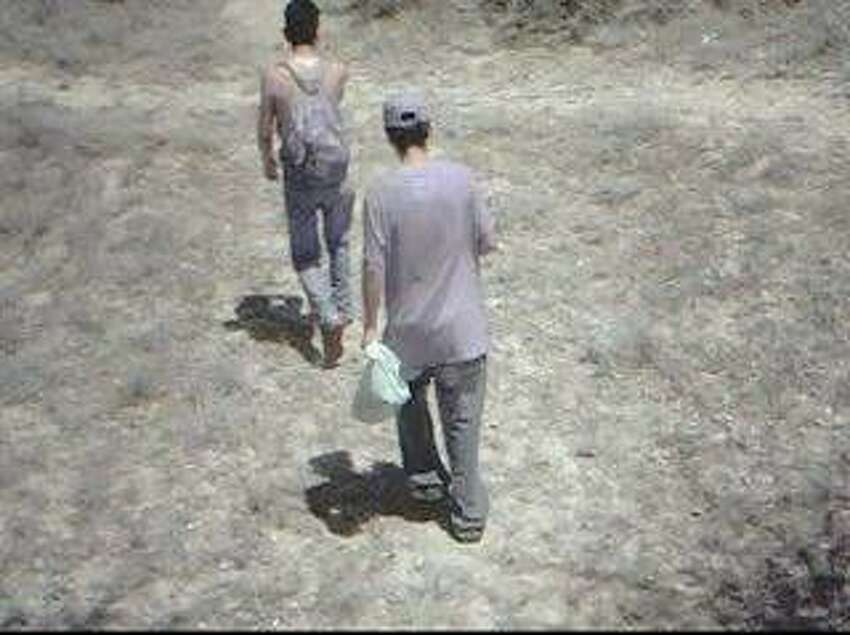 Photos captured by motion-activated cameras posted along the Texas-Mexico border. Courtesy of the Texas Department of Public Safety.