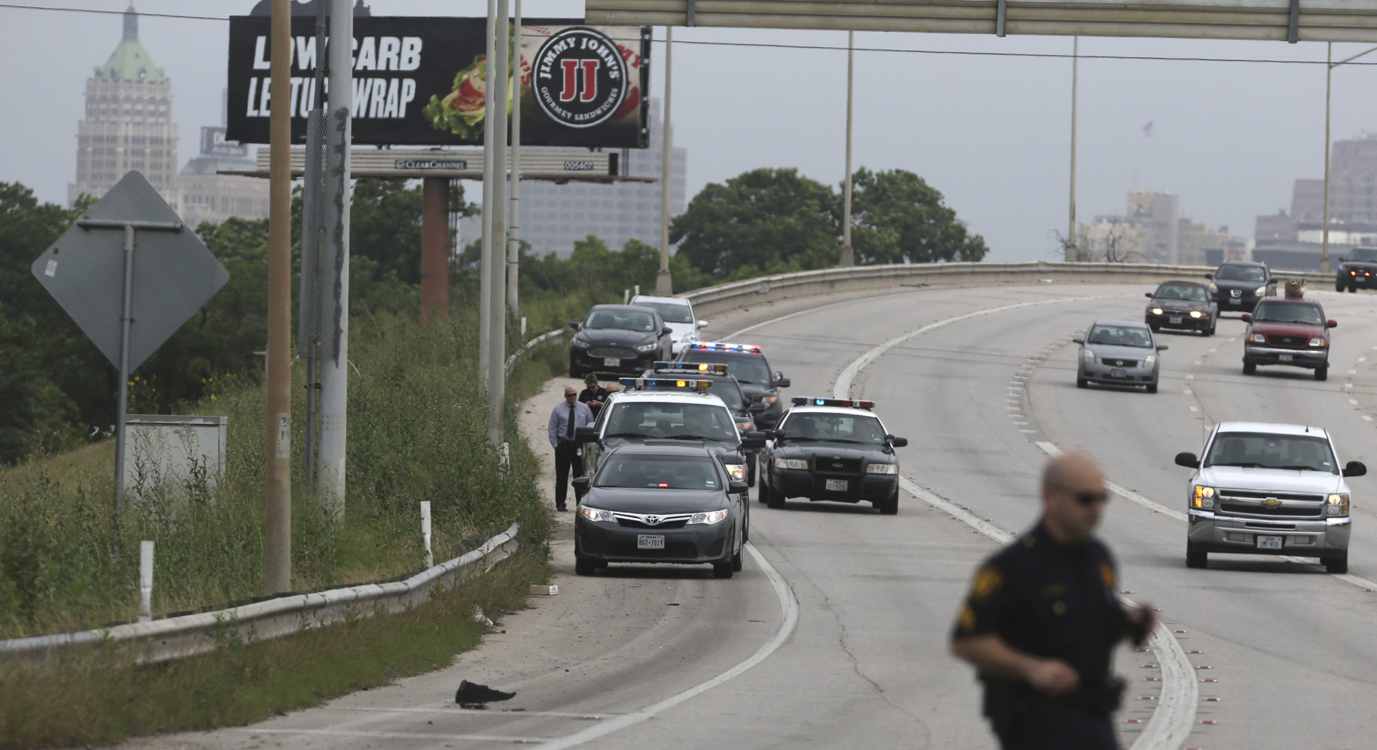 Baby's body found in bag on side of Interstate 37 near downtown San