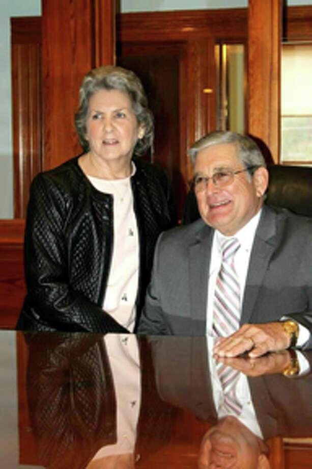 Newton County Judge Ronnie Boyett with his wife Martha. Photo Courtesy Newton County News
