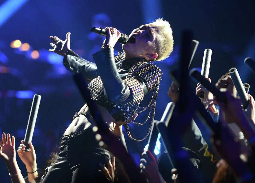 Miley Cyrus' latex studded bolero , estimated value: $2,000-$4,000. Julien's notes: