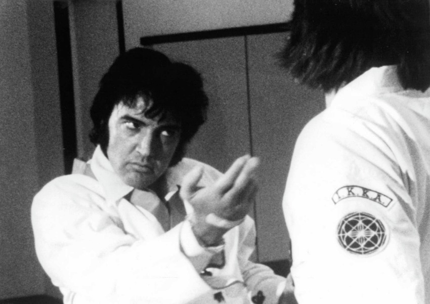 Elvis undoubtedly took care of business in this karate gi, and it can be yours in an upcoming sale over at Julien's Auctions. Check outElvis' karate gi, estimated value: $6,000-$8000. Julien's notes: