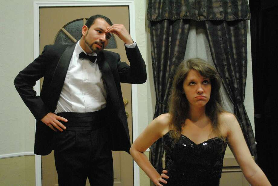 "Robert Gonzalez and Chelsea Ortuno star in ""Rumors"" at the Sheldon Vexler Theater. Photo: Courtesy Dylan Brainard"