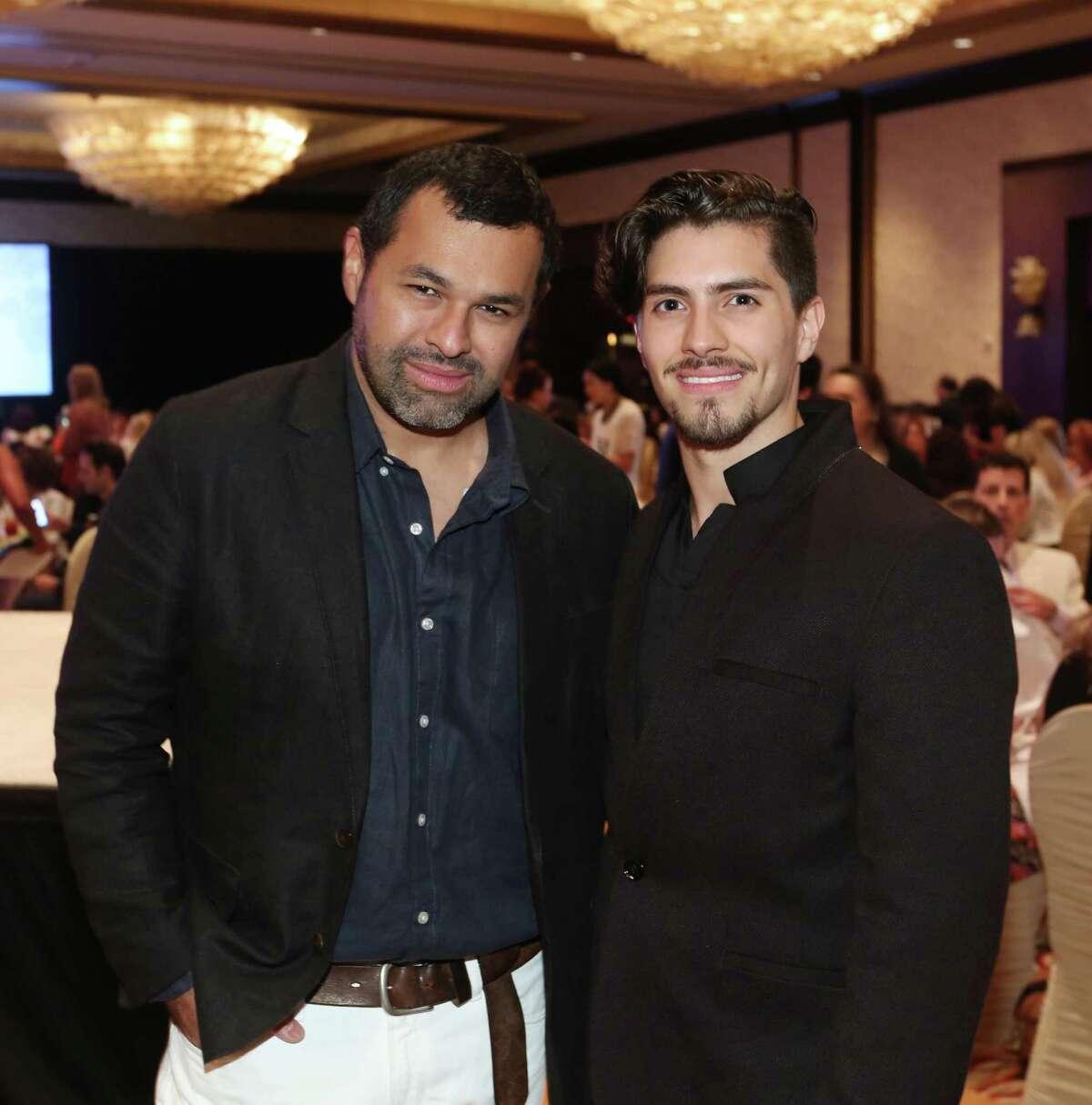 Designer Juan Carlos Obando, left, and Sal Montes