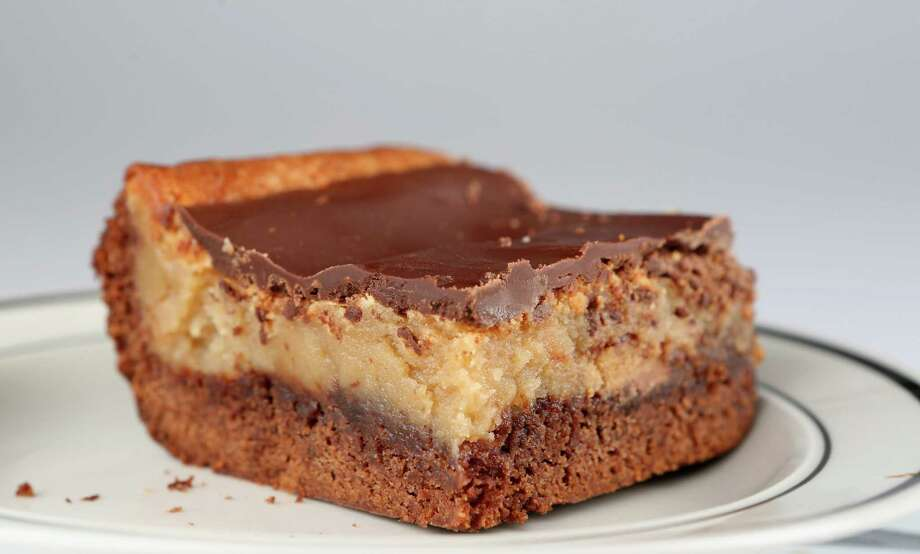"""Chocolate Peanut Butter Cup """"Ooey Gooey Butter Cake"""" featured in ..."""
