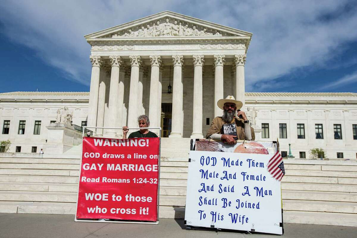 A decision on whether to declare state bans on gay marriage unconstitutional is pending before the U.S. Supreme Court. Regardless, Texas lawmakers are considering a mean-spirited, bigoted law to withhold the use of tax dollars for same-sex marriage licenses.