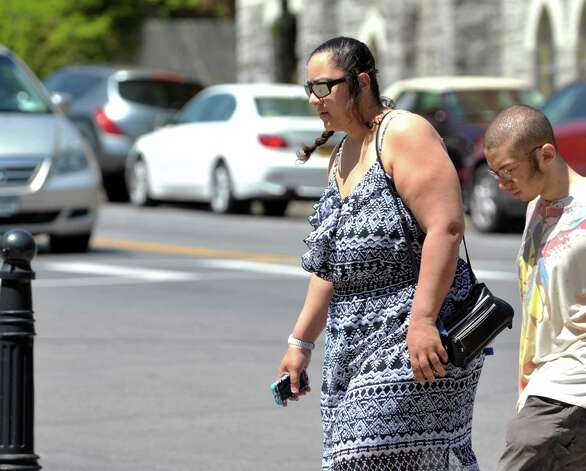 Brenda VanAlstyne makes her way into Albany County Family Court on Monday, May 11, 2015, in Albany, N.Y.  VanAlstyne was in court for a hearing on the two sisters of slain 5-year-old Kenneth White. (Paul Buckowski / Times Union) Photo: PAUL BUCKOWSKI / 00031791A