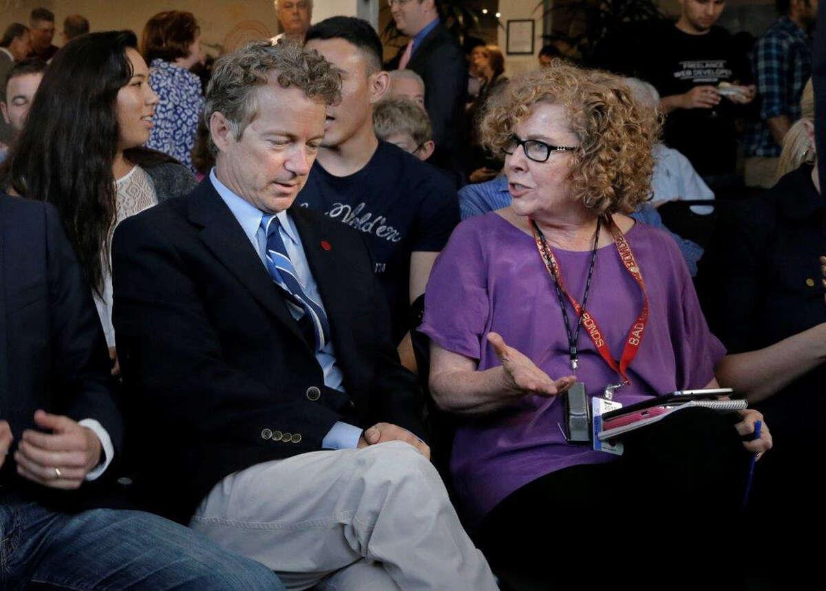 Sen. Rand Paul with Chronicle columnist Debra J. Saunders.