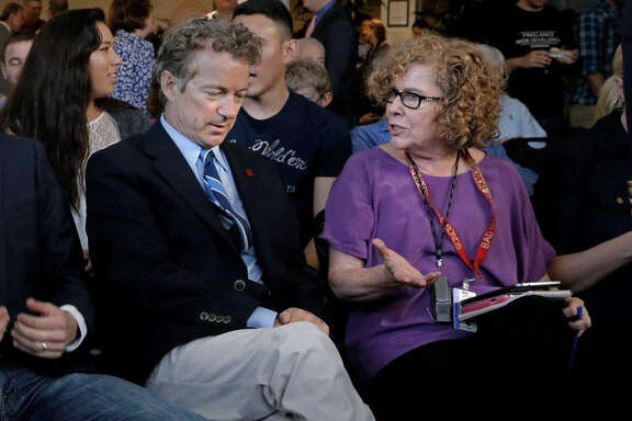 Sen. Rand Paul with Chronicle columnist Debra J. Saunders.