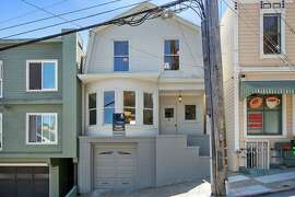 Both 4495 17th St. in Corona Heights and the four-unit mixed building beside it are for sale.