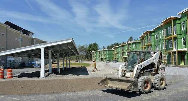 Construction continues at netZero village Friday May 8, 2015 in Rotterdam, NY. (John Carl D'Annibale / Times Union) Photo: John Carl D'Annibale / 00031774A