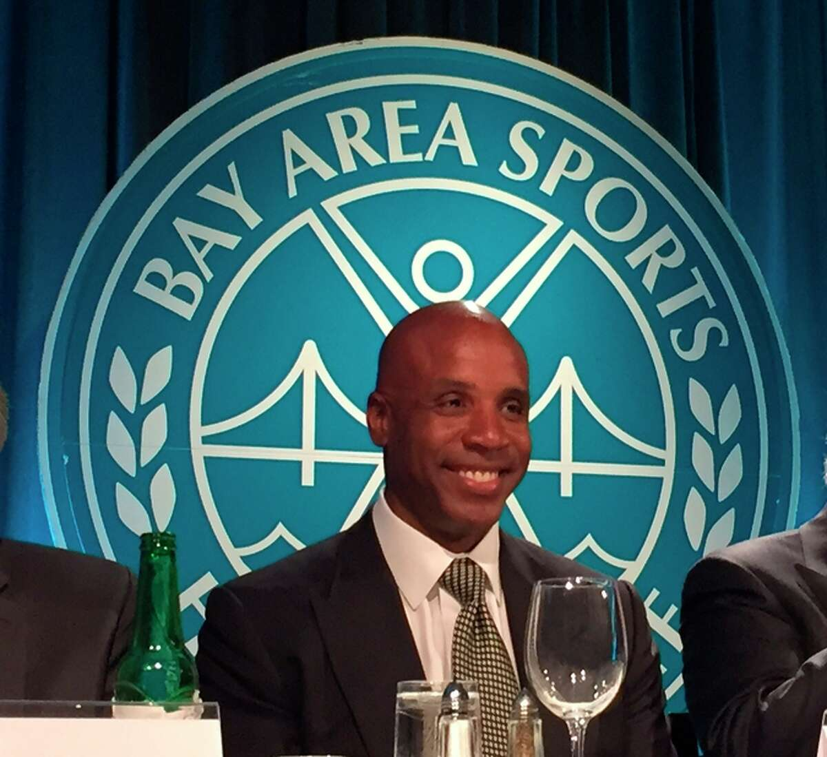Barry Bonds says the speech he gave at the BASHOF ceremony was the first he'd ever written. Baseball's career home-run leader played 15 seasons for the Giants.