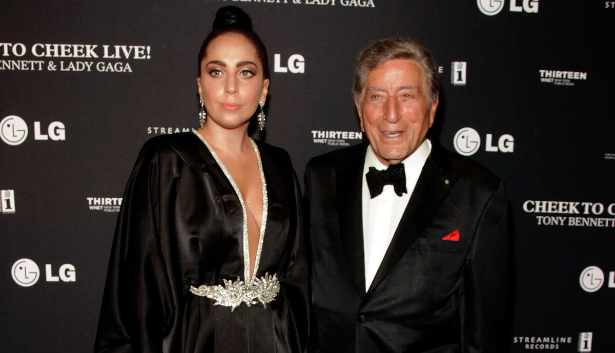 """Lady Gaga and Tony Bennett collaborated on 2011's """"Duets II,'' Bennett's first No. 1 album on the Billboard 200 chart."""