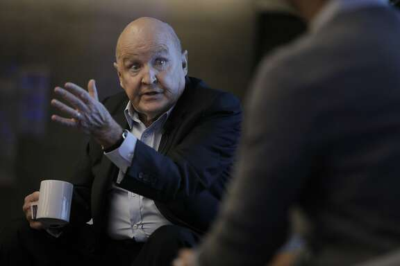 "Jack Welch, former CEO and Chairman of General Electric, answers a question during a Q&A with LinkedIn executive editor Dan Roth as they promote their new book, ""The Real Life MBA"" at LinkedIn in San Francisco , Calif., on Monday, May 11, 2015."