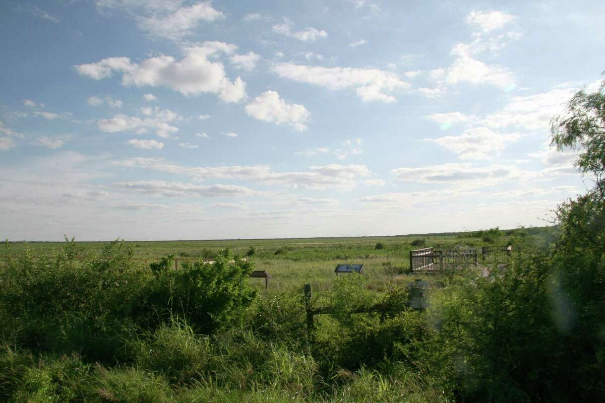This April 29, 2015, photo shows the Palmito Ranch Battlefield, scene of the last land battle of the Civil War 150 years ago near Brownsville, Texas. The battle began May 12, 1865, a month after Robert E. Lee surrendered to Ulysses Grant at Appomattox in Virginia, when Union forces at the mouth of the Rio Grande moved toward Confederates at Brownsville. The following day, the Confederates led by a former Texas Ranger and newspaper editor routed the Union soldiers.