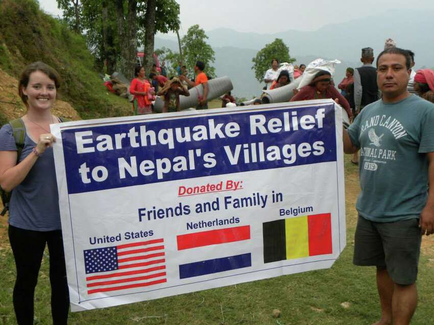 Ashley Jordan is a Texas State University graduate who is currently helping people in Nepal following two deadly earthquakes.