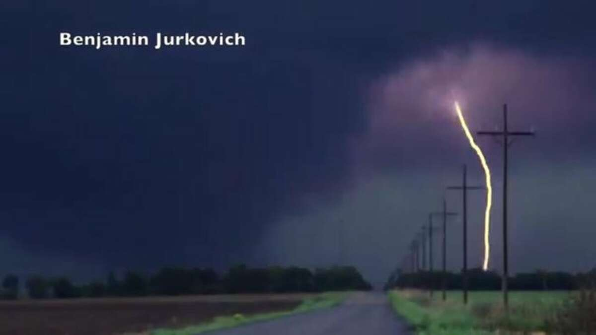 Storm chaser Benjamin Jurkovich captures a lightning strike. Photo and copyright: Benjamin Jurkovich