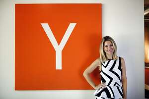 Lona Duncan is a former model who left high-fashion for high-tech, getting her MBA and founding a style based startup.  (Photographed at the Y Combinator  in Mountain View in March 2014.)