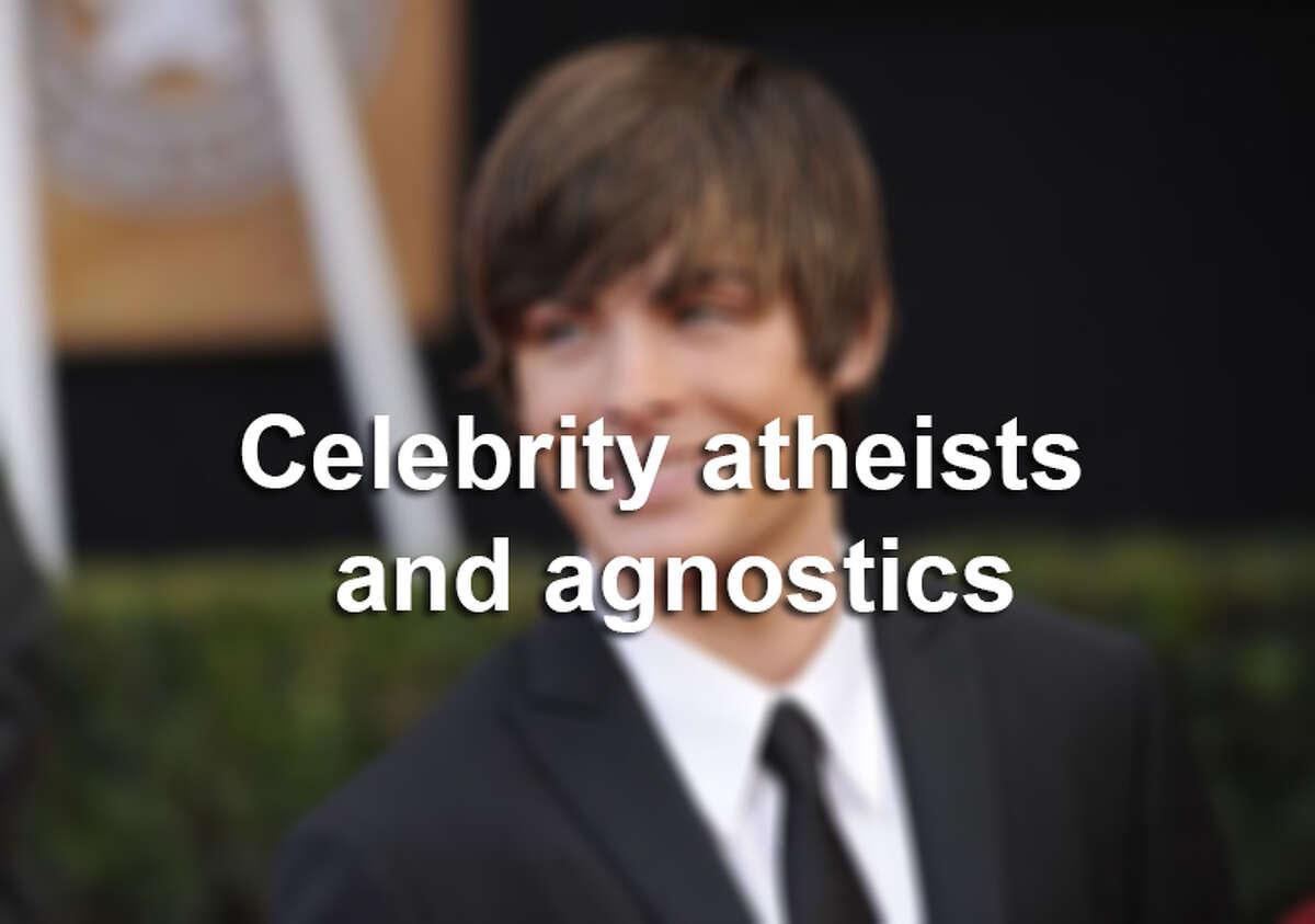 These celebrities identify as irreligious.