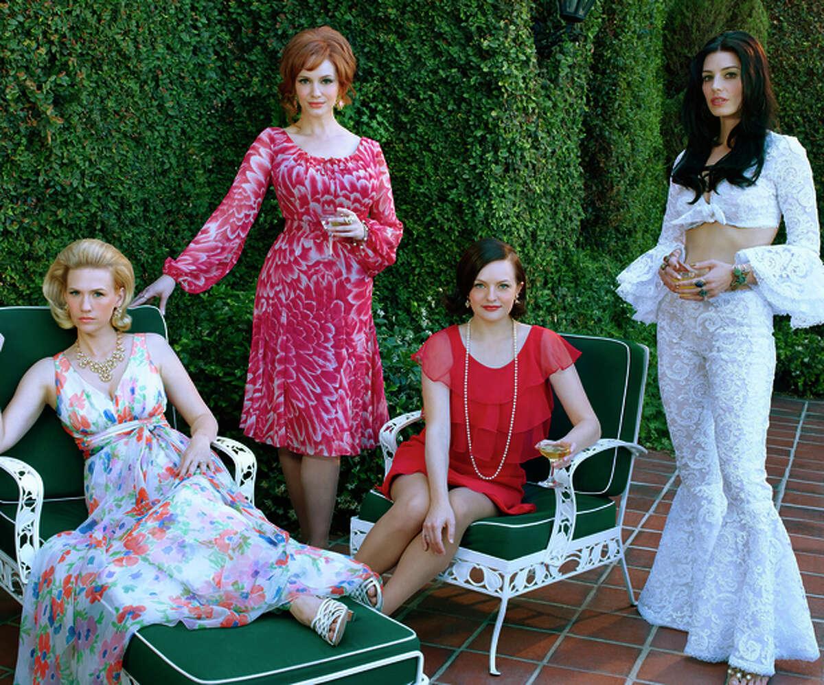 "Left: The women of ""Mad Men"": January Jones (left), Christina Hendricks, Elisabeth Moss and Jessica Pare."