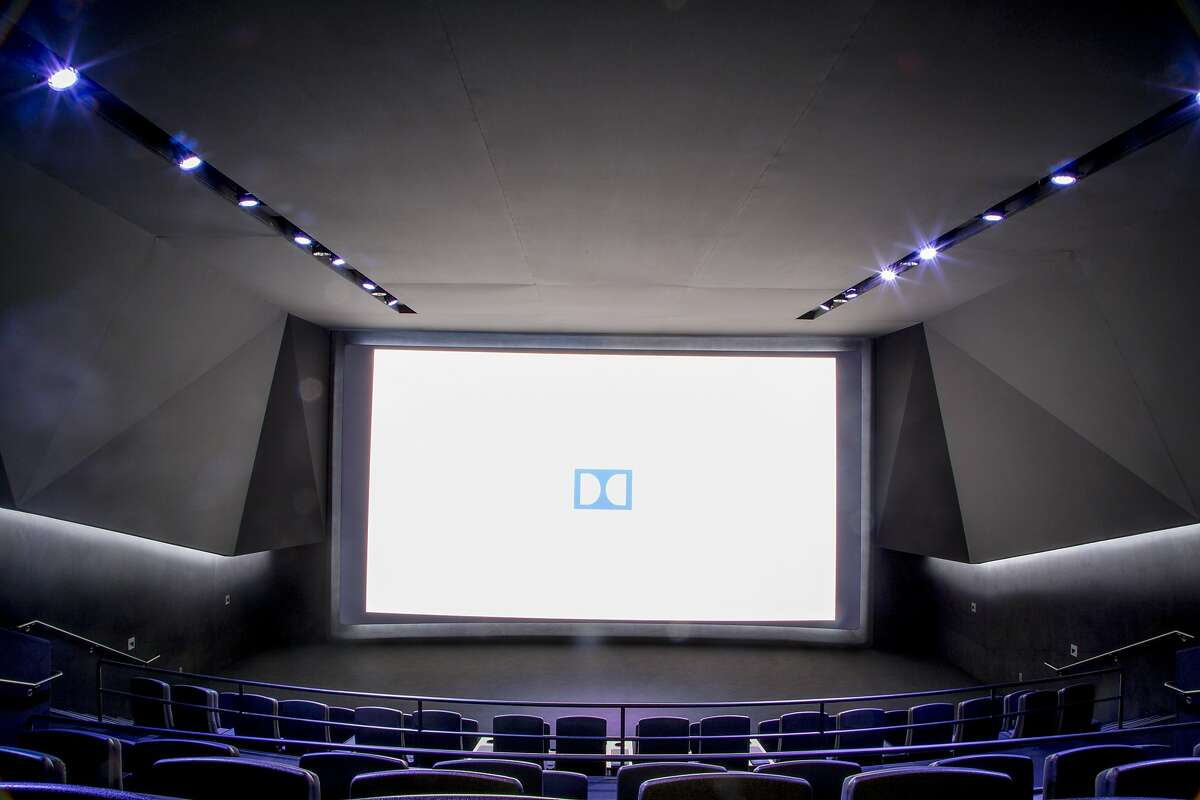 A view of the secret Dolby lab and prototype theater sits inside the unassuming historic Vine Theater, where the Dolby team gives demos of the height of capabilities of Dolby audio, visual and post-production technologies to elite Hollywood directors, studios, and theater executives in Los Angeles, California, on Monday, May 11, 2015. (Photo by David Walter Banks)