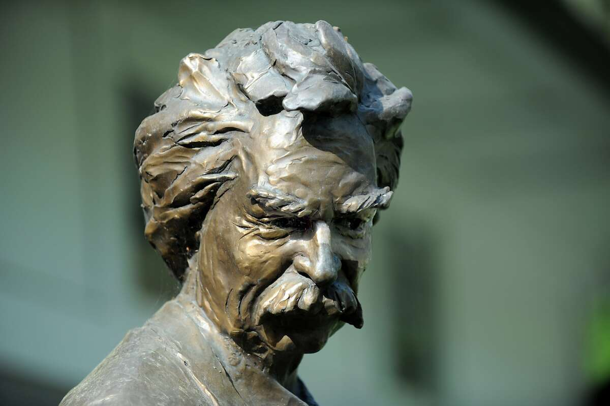 A detail on one of many likeness of Mark Twain that adorn the Mark Twain Library in Redding, Conn., Monday, May 11, 2015.