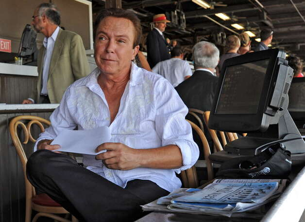 Actor/Singer David Cassidy sits in the clubhouse at the Saratoga Race Course in Saratoga Springs, NY on July 26, 2010. (Lori Van Buren / Times Union) ORG XMIT: MER2014013110550509 Photo: LORI VAN BUREN / 00009626A