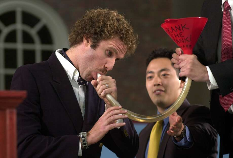 Will Ferrell's 2003 Harvard speech was full of comedy, as he pretended it was  a boat ceremony.