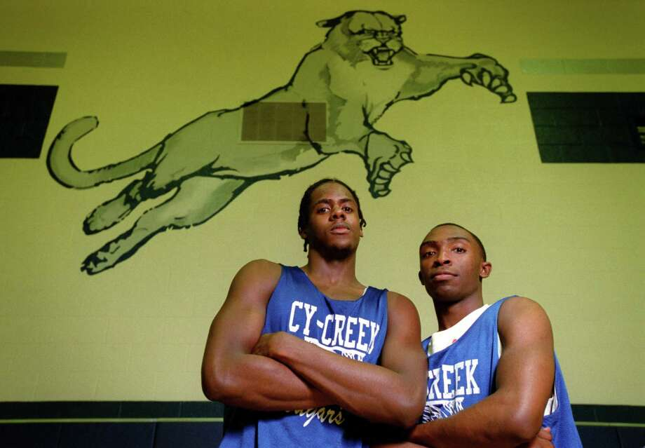 Kerry Parks (left) and George Kiel photographed at Cy Creek High School.  Joshua Trujillo / Chronicle.  HOUCHRON CAPTION  (03/05/2003):  Two pillars in Cy Creek's march tot he state tournament are Kerry Parks, left, and George Kiel. Photo: Joshua Trujillo, Staff / Houston Chronicle