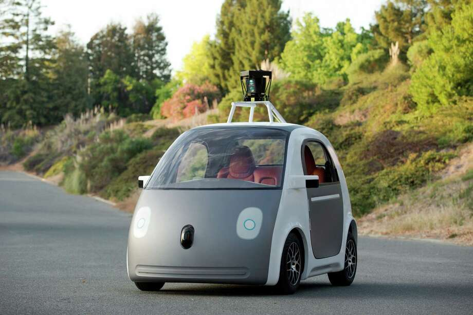 This image provided by Google shows a very early version of Google's prototype self-driving car. The two-seater won't be sold publicly, but Google on Tuesday, May 27, 2014 said it hopes by this time next year, 100 prototypes will be on public roads. (AP Photo/Google) Photo: Uncredited / Associated Press / Google