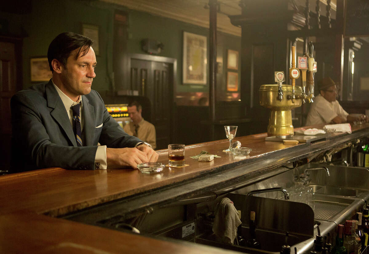"""Above: Jon Hamm as ad exec Don Draper on """"Mad Men,"""" which concludes this weekend after seven seasons."""