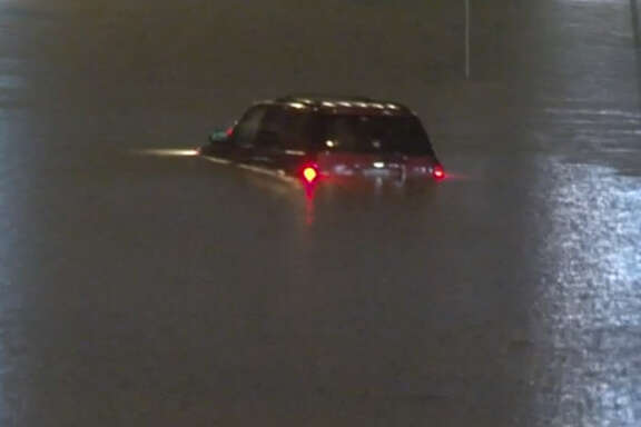 Residents woke to flooded roads early Wednesday morning after heavy rains drenched the Houston region overnight. Some of the worst flooding Wednesday morning was along Interstate 45 in the Clear Creek area, Huffman said. Most spots in that area recorded between 6 inches and 8 inches of rainfall overnight, leaving roads underwater in some low lying areas.