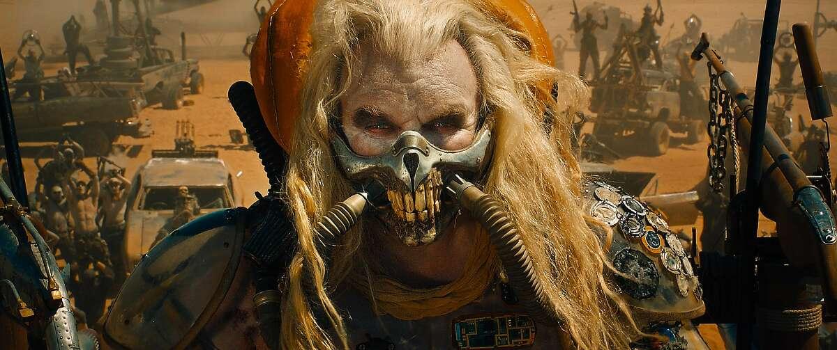 "This photo provided by Warner Bros. Pictures shows, Hugh Keays-Byrne as Immortan Joe, in Warner Bros. Pictures' and Village Roadshow Pictures' action adventure film, ""Mad Max:Fury Road,"" a Warner Bros. Pictures release. (Courtesy Warner Bros. Pictures via AP)"