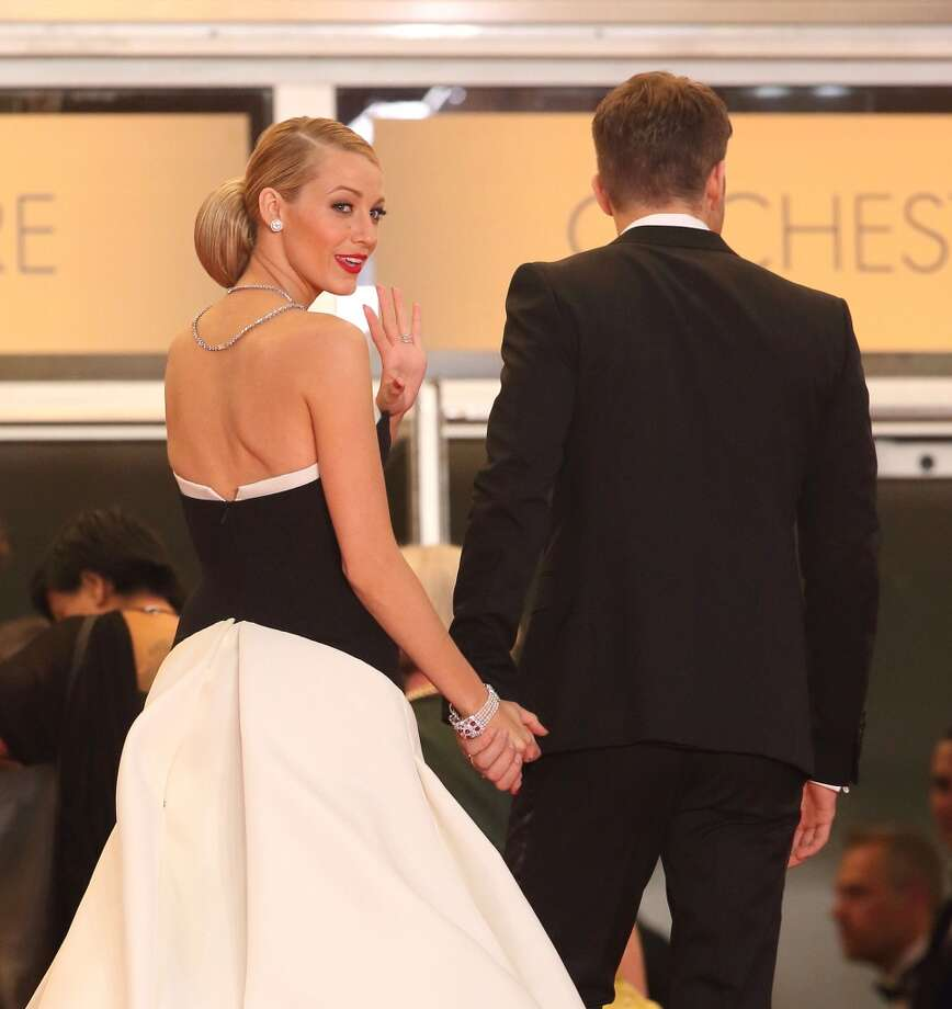 """Blake Lively and Ryan Reynolds attend """"Captives"""" Premiere at the 67th Annual Cannes Film Festival on May 16, 2014 in Cannes, France. Photo: Mike Marsland, WireImage"""