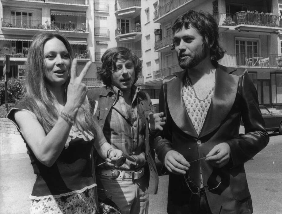 English actors Francesca Annis and Jon Finch with the Polish director Roman Polanski (centre) at the Cannes Film Festival. Annis and Finch star in Polanski's version of MacBeth.  (Photo by Keystone/Getty Images) Photo: Keystone, Getty Images