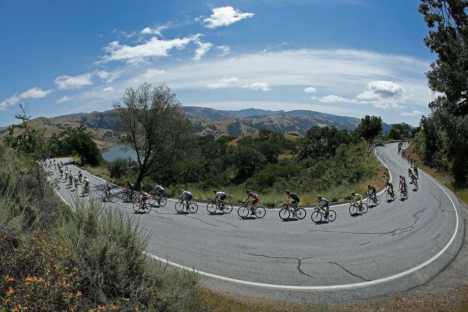 The peloton snakes along Calaveras Road early during stage two of the 2015 Amgen Tour of California on May 12, 2015 in San Jose, California. Photo: Doug Pensinger, Getty Images
