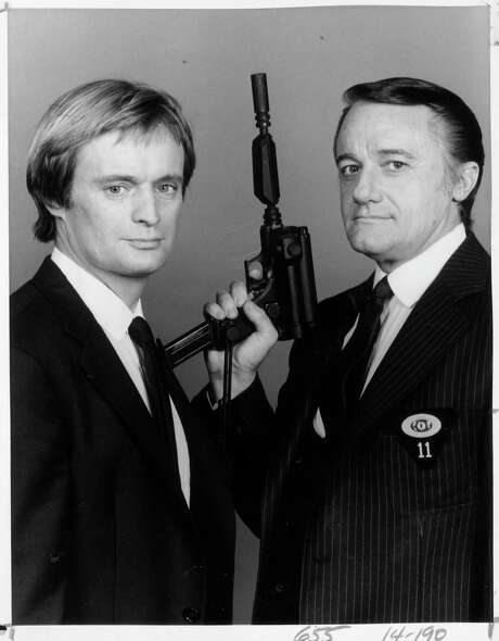 """David McCallum and Robert Vaughn in 'Return of the Man from U. N. C. L. E.'  1983. They played superagents in the hit 1960s series """"The Man From U.N.C.L.E. / handout"""