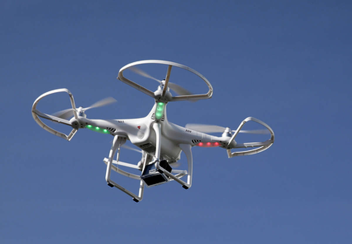 Drones like this could pose serious hazards to commer cial flights and small planes.