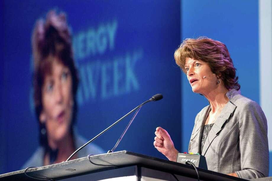 Sen. Lisa Murkowski, R-Alaska, shown speaking at  a Houston conference in April. ( Brett Coomer / Houston Chronicle ) Photo: Brett Coomer, Staff / © 2015 Houston Chronicle