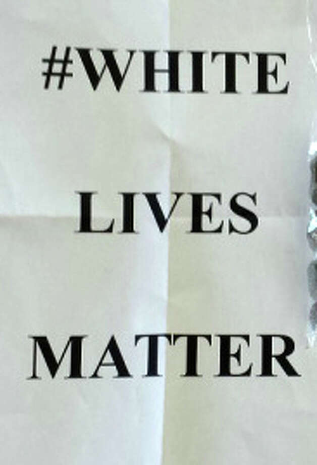 "Of the #White Lives Matter flyers tossed recently on local lawns, columnist Dan Woog writes: ""America is a complex place. Our country grapples with issues of race, income inequality and much more. Westport is not immune to those discussions. Unfortunately, we are also not immune to anonymous flyers tossed, under cover of darkness, onto our suburban lawns."" Photo: File Photo, Contributed Photo / Westport News"