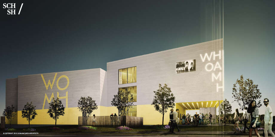 Architectural rendering of the White Oak Music Hall, a five-acre, large-scale live music complex just north of Houston's downtown at 2915 N. Main and North Street. The new venue will feature three stages. There will be a two indoor stages (one smaller, one larger) and one located outdoors which will have capacity for up to 3,000 people to rock and or roll under the stars. The smaller room can accommodate up to 400 people, while the larger room is expect to be able to hold up to 1,400. Photo: SCHAUM|SHIEH ARCHITECTS